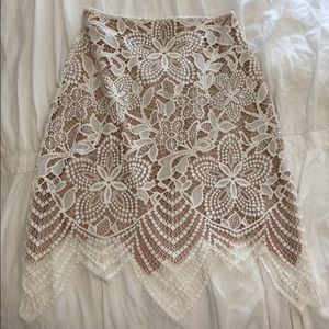 For Love and Lemons White Lace Long Sleeve Set